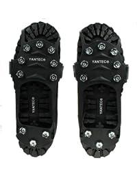 Yantec® Spikes für Schuhe, schwarz (10 Krallen Spikes) Größe XL (ca.43-46) Schuhspikes