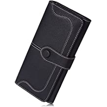 JMSIA Vintage-Ledertaschen Wildleder Tasche Damen Geldbörse Lang Damen Portemonnaie