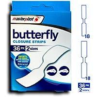 Butterfly-Verschluss-Streifen, wasserdichte Putze, 36pack, Masterplast preisvergleich bei billige-tabletten.eu