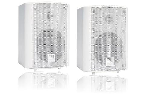 AMC POWER BOX 5 RAL9016 aktives Stereo Lautsprecherboxen System (2-Wege) weiß