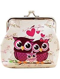 Angelof Femmes Owl PU Cuir Portefeuille Carte Titulaire Coin Purse Embrayage Sac à Main 12cmX11cm