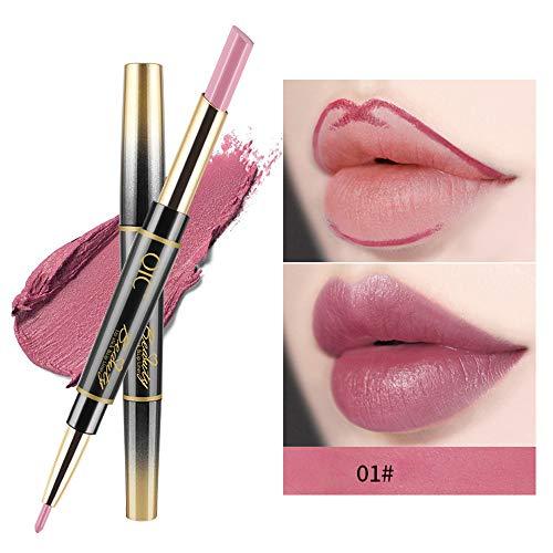 Neust Double-End Multifunktions Dauerhafte Lipliner Wasserdichter Flüssiger Lippenstifte 6 Farbe...