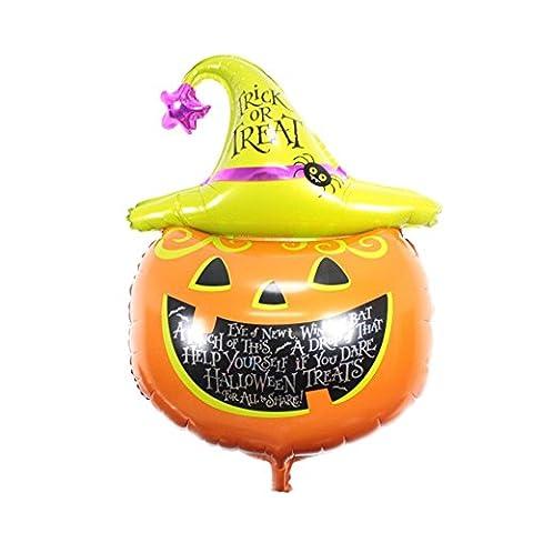 Balloon, Happy Halloween Party Household Children Pumpkin Balloon Ghost Decor Terror Fun Lanspo (A)