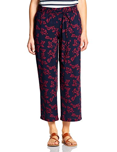 Street One Damen 372358 Hose, Wine red, W/L26(Herstellergröße:38) Wide Leg Stretch Jeans Hose