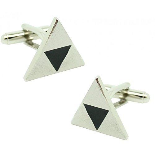 MasGemelos Gemelos Triángulo Plateado Zelda Cufflinks