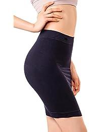 MD Ropa de forma de mujer cintura de nylon de alta talle para firme control de la panza, moldeador de cuerpo media resbalón