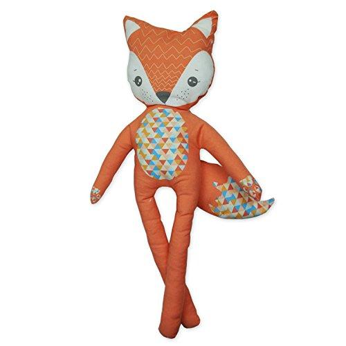 Kit à coudre doudou renard Foxy en tissu bio. Kit de couture complet. Jeu de loisir créatif pour enfant à partir de 8 ans (Foxy)
