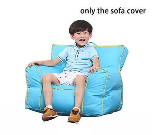 Quwei DIY pour enfant Assise doux Canapé confortable Chaise en forme de poire Motif intérieur/extérieur Coussin de sol pour enfants Chambre de bébé (Couverture de canapé, bleu)