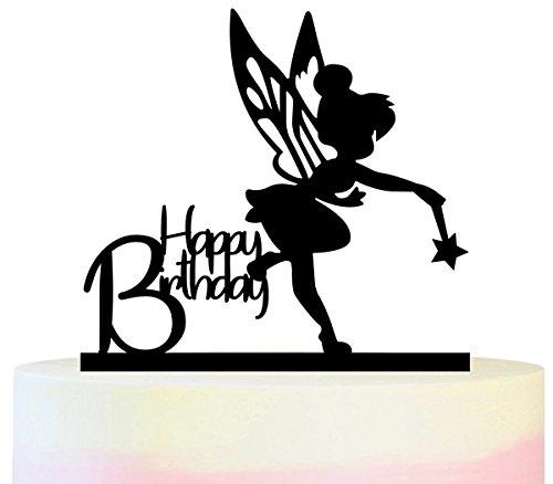Innovedesire Happy Birthday Tinkerbell Peter Pan Kuchenaufsätze Hochzeit Geburtsta Acryl Dekor Cupcake Kuchen Topper Stand für Kuchen Party Dekoration 11 Stück