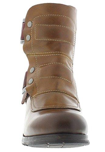 FLY London Damen Seli700fly Combat Boots Camel/Beige