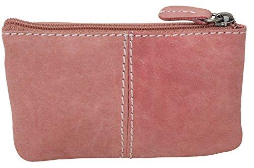 """Gusti Leder studio ''Rook"""" portachiavi con funzione di mini portamonete portafoglio banconote monete vintage vera pelle festa disco unisex rosa 2A92-22-13"""