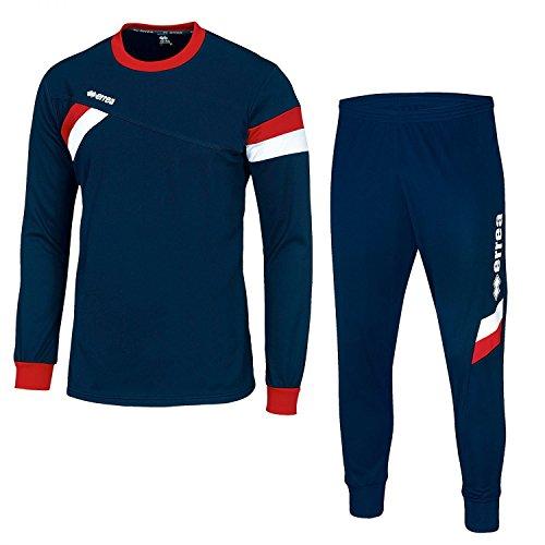 Errea set forward completo allenamento blu rosso bianco adulto (S)