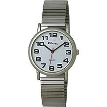 R0208.02.1S - Reloj de cuarzo para hombre, correa de acero inoxidable color plateado