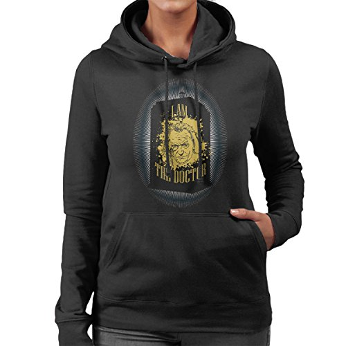 The First Doctor Who Hartnell Tardis Women's Hooded Sweatshirt Black