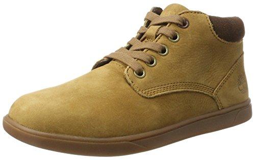 Jungen Boot Schuhe Timberland (Timberland Kids Groveton Leather Chukka Boots, Braun (Rubber), 38 EU)