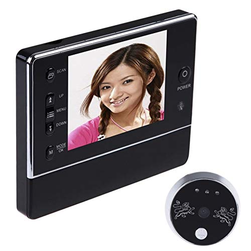 Preisvergleich Produktbild WEIWEITOE-DE 3.5 inch LCD Digital Wireless Doorbell Peephole Viewer 120 Degrees Wide View Night Vision 3X Zoom Doorbell QR-02