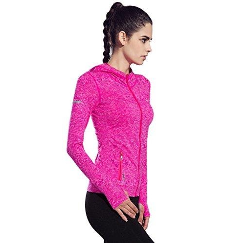 Thriving prosperous felpa a maniche lunghe per la formazione femminile con cappuccio zip completo per jogging yoga