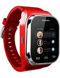 Tongshi W1 Bluetooth inteligente del reloj del reloj del teléfono con pantalla táctil + teclado (Rojo)