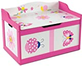 "Kindertruhenbank ""Butterfly"" mit intergrierter Spielzeugkiste Kinderbank Kindermöbel Holzbank Spielzeugtruhe"