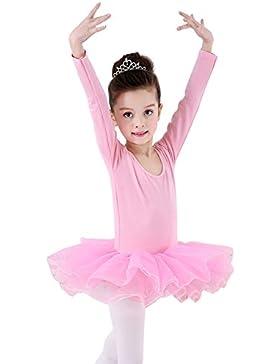 Happy Cherry - Traje de Danza Ballet para Niñas Vestido Falda Tutú Maillot de Gimnasia Leotarto Clásico Corto...