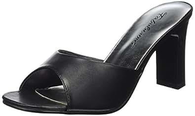 Fabulicious Damen Clogs & Pantoletten, Schwarz - Schwarz (Blk Pu BLK) - Größe: 35 EU