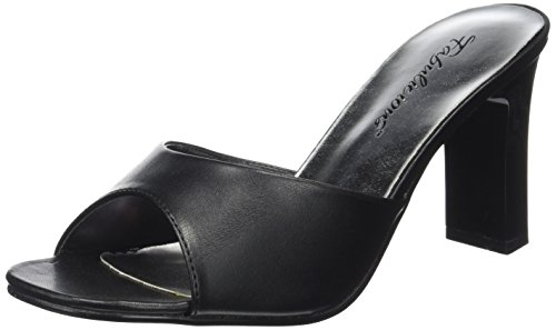 Fabulicious Damen ROMANCE-301-2 Peeptoe Sandalen, Schwarz Pu BLK, 37 EU Sexy High Heel Prom Schuhe