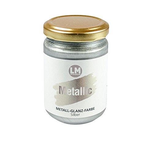 Metallic 125ml (Silber) - - - Metallic Farbe, Metallglanz, Metall Effekt Farbe, ähnlich Viva Decor Maya Gold (Gold-metall-farbe)