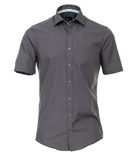 Venti Herren Businesshemd Hemd, Grau (Anthrazit 750), 38