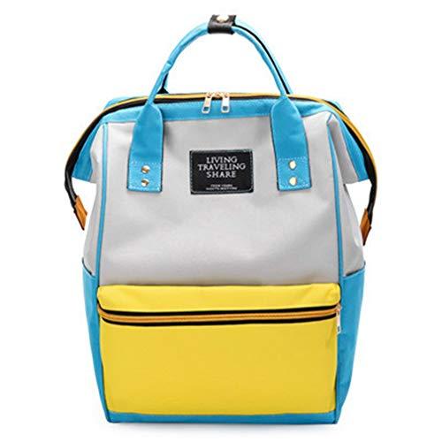 Schultertasche Laptop Rucksack Damen Schulranzen Yellow 25x19x38cm