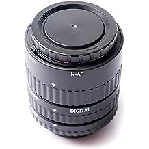 Meike MK-N-AF1-B Montaje Electronico Enfoque Macro automatico tubo de extension Anillo de extension para Nikon D5200 D7000 D7100 D5000 D5100 D3100 D3000 D800 D600 D300 D300s D90 D80