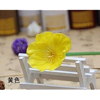 LACKINGONE – 10 Ramo de Flores Artificiales de Amapola para Boda, Escritorio, decoración para el hogar