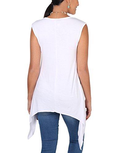 Krisp® Canottiera elasticizzata da donna per la gravidanza, misura Wear White