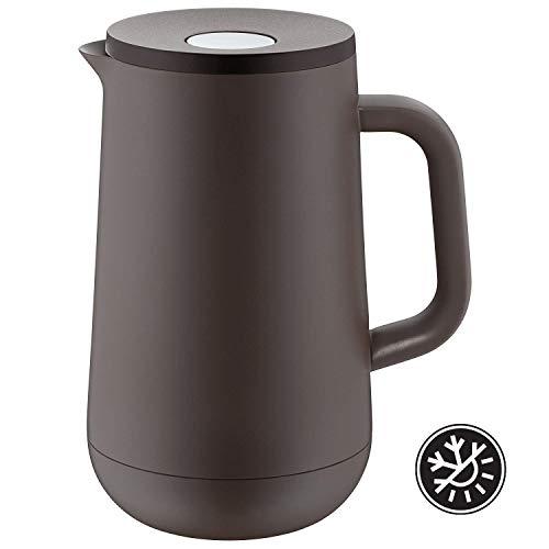 WMF Isolierkanne Thermoskanne IMPULSE taupe 1,0l für Tee oder Kaffee Druckverschluss hält Getränke 24h kalt & warm -