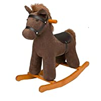 YUMEIGE Rocking Horses Infant Rocking 23.6 × 11 × 23.6inch Brown, Pink,rocking Zebra Rocking Chair Baby Baby Toy,rocking Horse 1-6 Year Old Birthday Present