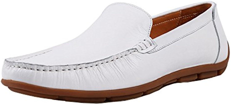 XYNXKZ Männer Sommer Lässig Mode Britisch Komfort Outdoor Lederschuhe