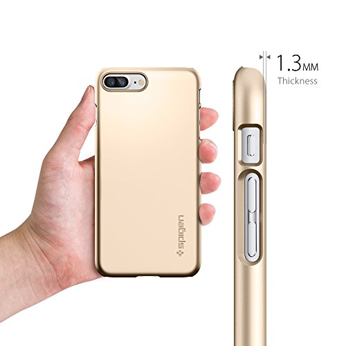 Coque iPhone 7 Plus, Spigen® [Thin Fit] Exact-Fit [Crystal Clear] Premium transparent Hard Housse Etui Coque Pour iPhone 7 Plus (2016) - (043CS20935) TF Or