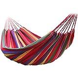 Hamaca primavera verano jardin multicolor algodon lona 280x100 resistencia dormir cama descanso