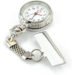 Gleader Quartz Movement Nurse Brooch Fob Tunic Pocket Pendant Watch [Watch]