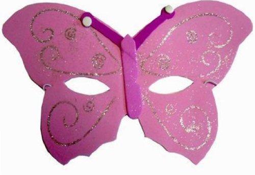 Maschera a forma di farfalla, colore: rosa