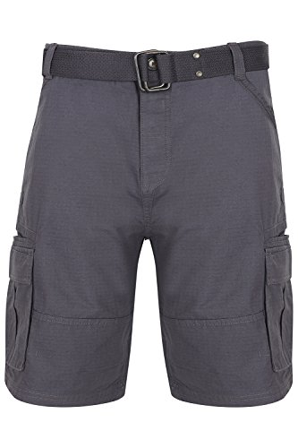 Tokyo Laundry Mens Designer Cotton Cargo Shorts with Free Woven Belt
