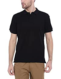 ARISE Regular Fit Polo T-shirt for Men - Half Sleeves Casual Men's Polo - Black