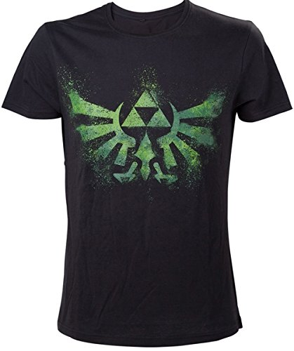 Nintendo T-Shirt -L- Grünes Zelda Logo, Schwarz [Importación Alemana