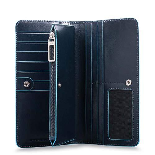 Piquadro Blue Square Large Wallet Nero