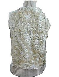 MISS POSH Stone Beige Faux Fur Sleeveless Gilett / Jacket