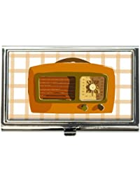 Retro Radio Vintage Technology Business Credit Card Holder Case