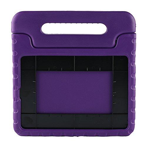 Preisvergleich Produktbild Kinder Hülle für iPad Air 2, CAM-ULATA EVA Stoßfest Leichtgewicht Kinderfreundlich Griff Schutzhülle Standhülle Für iPad Air 2 9.7 Zoll 2014 Veröffentlicht Tablette, Violett