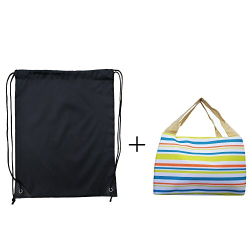 Premium Gym Sack drawstring Bag Turnbeutel Rucksack-Farben (Schwarz (Party Supplies Gymnastik)