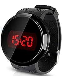 Reloj - SODIAL(R)Reloj,Sunstone moda hombres LED tactil pantalla dia fecha silicona pulsera Reloj Digital LED reloj Touch negro