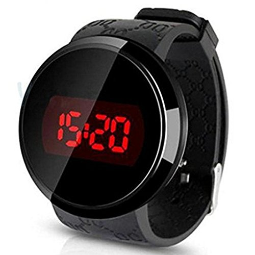 Reloj - SODIALR Reloj,Sunstone Moda Hombres LED tactil Pantalla Dia Fecha Silicona Pulsera Reloj Digital...