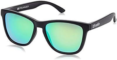 D.Franklin ROOSEVELT BLACK MATTE / GREEN - gafas de sol, unisex, color verde, talla UNI